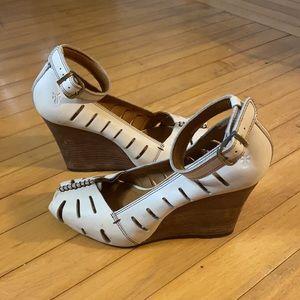 Frye Gwen Ankle Strap wedges